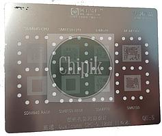 Трафарет BGA AMAOE QU:5 для SDM845, SM8150, SDM670, MSM8917, SDM845 RAM, SM8150, SDM710, SM6150