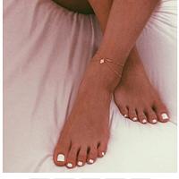 Женский браслет на лодыжку с подвеской на цепочке, фото 1