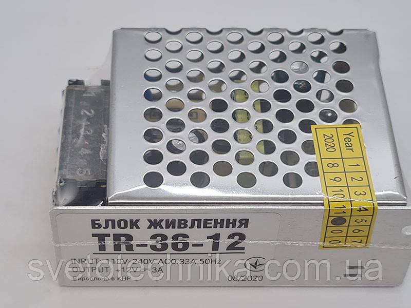 36W блок живлення для світлодіодної стрічки 12V IP20