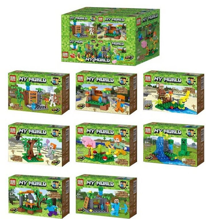 Конструктор для дітей My World 63060, 16 штук в блоці