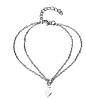 Женский браслет на лодыжку с подвеской на цепочке