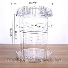 Обертовий органайзер для косметики акриловий прозорий, фото 3