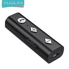 Приймач KUULAA Bluetooth 5.0, 3.5 мм AUX-роз'єм, безпровідний адаптер, передавач для авто, ПК, навушників