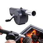 Приспособление для раздува углей, ручной вентилятор для барбекю, мангала, фото 2