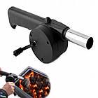 Приспособление для раздува углей, ручной вентилятор для барбекю, мангала, фото 5