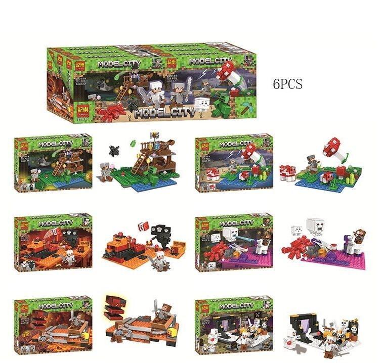 Конструктор для детей My World 20018 A/F , цена за 6 штук в блоке