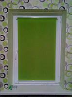Рулонная штора Лён зеленый цвет ткань Green Т 0883