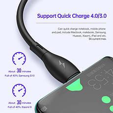 Оригінальний кабель KUULAA KL-X29 PD 60W USB Type-C - USB Type-C швидка зарядка QC4.0 3A 1м White, фото 3