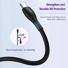Оригінальний кабель KUULAA KL-X29 PD 60W USB Type-C - USB Type-C швидка зарядка QC4.0 3A 1м White, фото 2