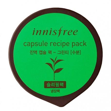 Innisfree - зволожуюча Маска з екстрактом зеленого чаю Capsule Recipe Pack-Green Tea