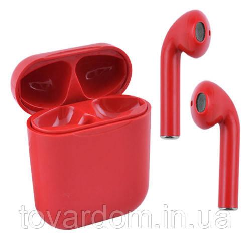 Бездротові bluetooth-навушники i31 5.0 з кейсом, red