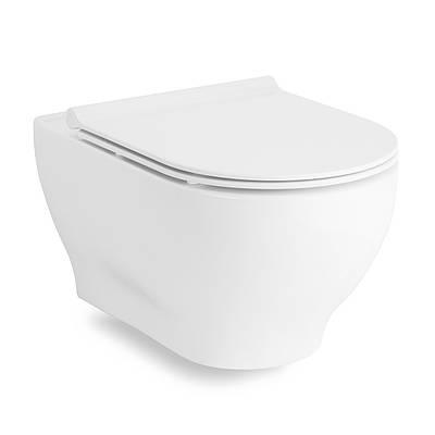 Унітаз підвісний Rectangular з сидінням Slim slow-closing Volle Oliva 13-45-165 білий