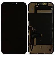 Дисплей (модуль) iPhone 11 (A2111/ A2223/ A2221) оригинал с переклееным стеклом