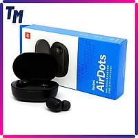 Наушники беспроводные Redmi AirDots TWS вакуумные блютуз гарнитуры с хорошим микрофоном Черные