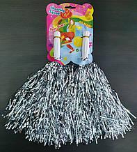 Помпоны для черлидинга серебряные - 2 шт/ комплект