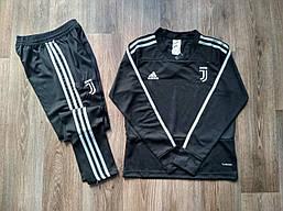 Детский костюм тренировочный Ювентус/Juventus ( Италия, Серия А ), черный, сезон 2018-2019 размер 24