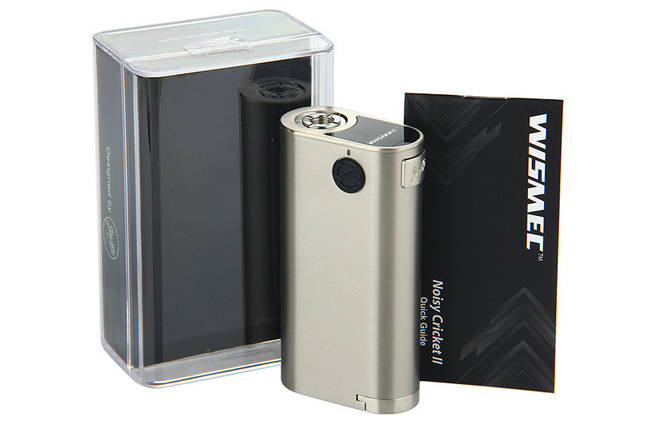 Батарейний мод Wismec Noisy Cricket D25 Silver, фото 2