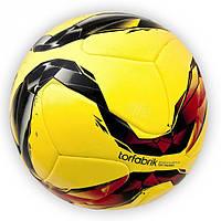 Мяч футбольный Torfabrik желтый клеенный