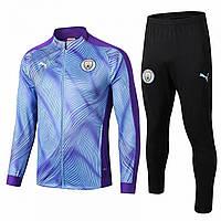Спортивный костюм Манчестер Сити/Manchester City ( Англия, Премьер Лига ), голубой, сезон 2019-2020
