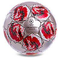 Мяч футбольный (серебристо-красный) Лиги Чемпионов сезон 2019-2020