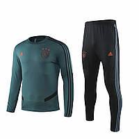 Тренировочный костюм Аякс/Ajax ( Нидерланды, Эредивизи ), зеленая, сезон 2019-2020 Размер XL