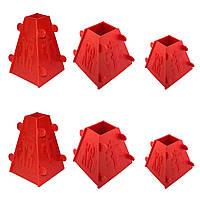 Набір з 6 форм для сирної паски 2x1.0 кг /  2x0.5 кг / 2x0.3 кг