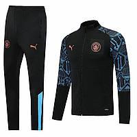 Спортивный костюм Манчестер Сити/Manchester City ( Англия, Премьер Лига ), черный, сезон 2020-2021