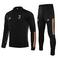 Детский костюм тренировочный Ювентус/Juventus ( Италия, Серия А ), черный, сезон 2020-2021