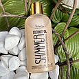 Кокосове масло для засмаги з шиммером Top Beauty Coconut Oil Shimmer 200 мл, фото 2