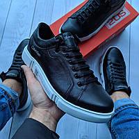 Кеды модные CK-5 Мужские кроссовки кожа LUX Реплика Black/White (Размер 40)