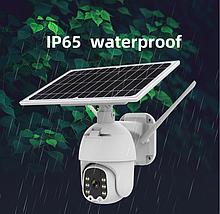 Камера WIFI видеонаблюдения аккумуляторная с солнечной панелью Q5 \ 2mp \ solar PANEL \CCTV