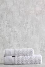 Набор махровых полотенец ( 50*85, 75*150 ) TM Pavia Турция LORA A.GRI серый