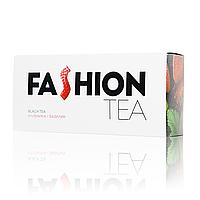 Черный чай Enerwood Fashion с клубникой и базиликом 20 пирамидок