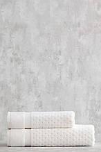 Набор махровых полотенец ( 50*85, 75*150 ) TM Pavia Турция LORA  ECRU молочный