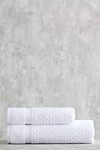 Набор махровых полотенец ( 50*85, 75*150 ) TM Pavia Турция LORA  BEYAZ белый