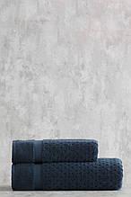 Набор махровых полотенец ( 50*85, 75*150 ) TM Pavia Турция LORA  MAVISI синий