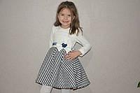 """Детское нарядное платье """"Одри"""" для девочки (белый)"""