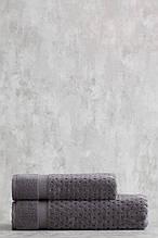 Набор махровых полотенец ( 50*85, 75*150 ) TM Pavia Турция LORA  ANTRASIT антрацитовый