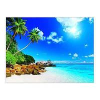Алмазная вышивка мозаика Diy Райский уголок земли  DZDP671 30х40см квадратные стразы, полная зашивка, 20