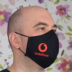 Маска с логотипом Vodafone двухслойная