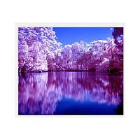 Алмазная вышивка мозаика Diy Сказочный пейзаж  DZDP750 30х40см квадратные стразы, полная зашивка, 20 цветов