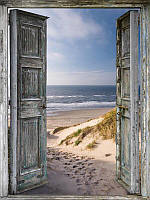 Алмазная вышивка мозаика Diy Дверь в жизнь  DZDP768 30х40см квадратные стразы, полная зашивка, 20 цветов
