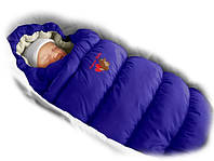 Конверт-пуховик Ontario Baby Inflated Lux синий с фиолетовым