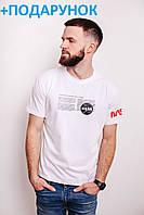 Мужская футболка с логотипом NASA / Молодежная футболка наса