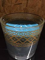 Свеча в стеклянном стакане Melinera синяя