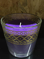 Свеча в стеклянном стакане Melinera фиолетовая