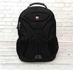 Якісний місткий рюкзак. Чорний. + Дощовик. 35L / s6022 black