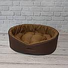 Лежак для кошек и собак. Коричневый + койот, фото 5