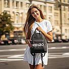 Стильний чорний жіночий рюкзак з екошкіри., фото 3