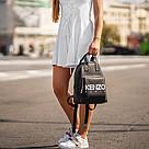 Стильний чорний жіночий рюкзак з екошкіри., фото 5